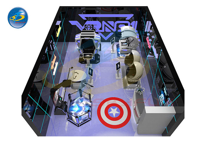 Small Business Virtual Reality Theme Park 9D VR Simulator Arcade Room Game Center